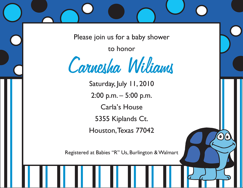 Baby Shower Invitation Design Example Houston Printing 1