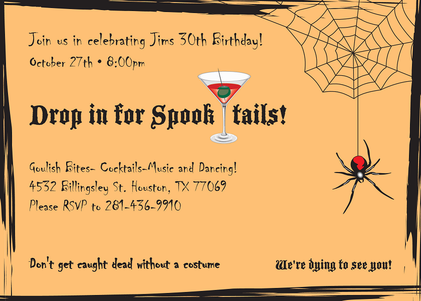Birthday Card Invitation Design Example Houston Printing 1