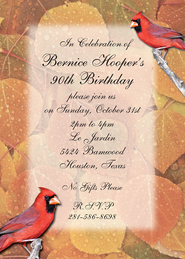 Birthday Card Invitation Design Example Houston Printing 2