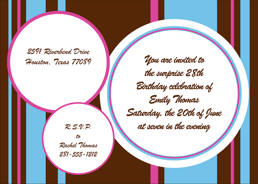 Birthday Card Invitation Design Example Houston Printing 3