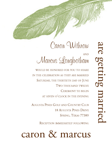 Wedding Invitation Printing & Design ~ Houston Print Shop Services
